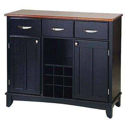 Hutch-Style Buffet Wood/Black/Oak - Home Styles