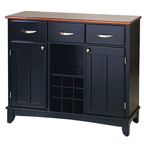 Hutch-Style Buffet Wood/Black/Oak - Home Styles - image 1 of 1