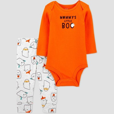 Baby Halloween Moms Boo Top and Bottom Set - Just One You® made by carter's Orange Newborn