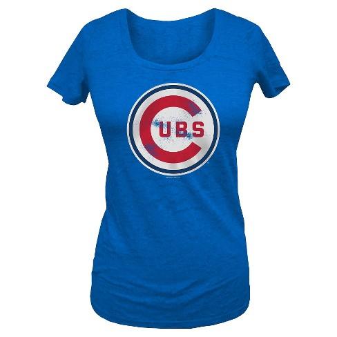 Chicago Cubs Women's Scoop Neck T-Shirt S - image 1 of 1