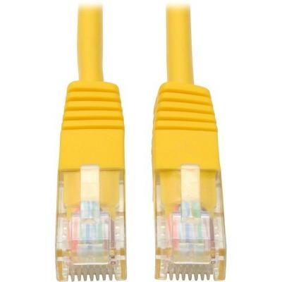 Tripp Lite 5ft Cat5e / Cat5 350MHz Molded Patch Cable RJ45 M/M Yellow 5' - 5ft - 1 x RJ-45 Male - 1 x RJ-45 Male - Yellow