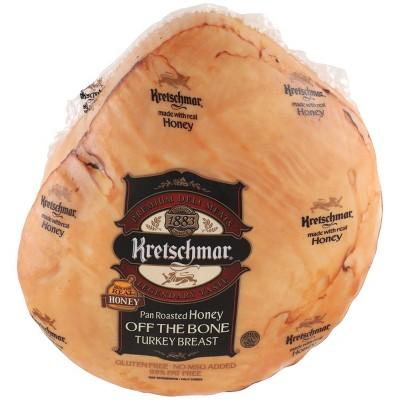 Kretschmar Pan Roasted Honey Off the Bone Turkey Breast - Deli Fresh Sliced - price per lb