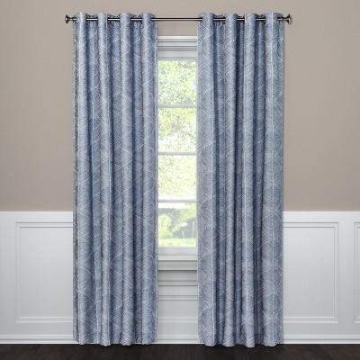 "95""x50"" Blackout Curtain Panel Modern Stroke Blue - Project 62™"