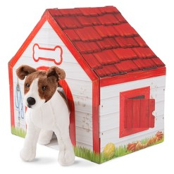 Melissa & Doug Doghouse Plush Pet Playhouse