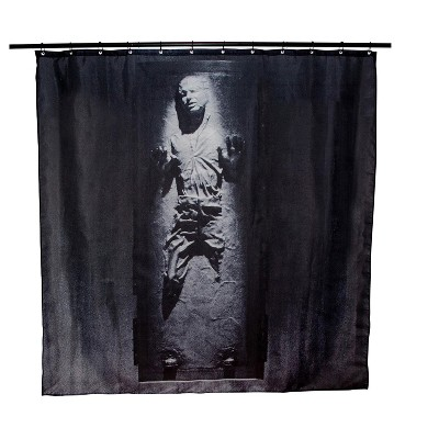 Robe Factory LLC Star Wars Han Solo In Carbonite Shower Curtain | 71 x 71 Inches