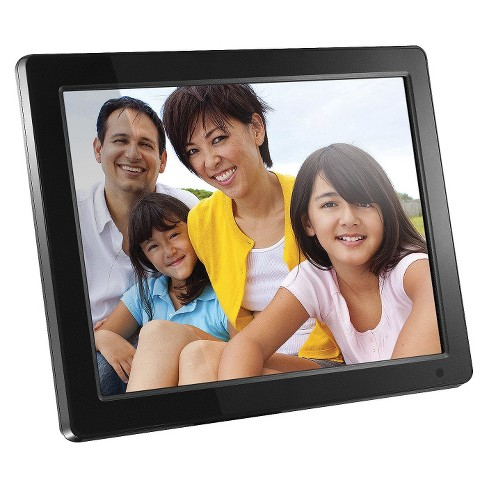 "Aluratek 12"" LCD Digital Photo Frame with 512MB Memory - Black (ADMPF512F) - image 1 of 3"