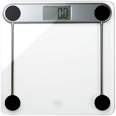 Tempered Glass Digital Bathroom Scale Silver/Clear - American Weigh Scales