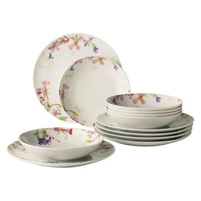 12pc Flower Meadow Porcelain Dinnerware Set - vivo by Villeroy & Boch