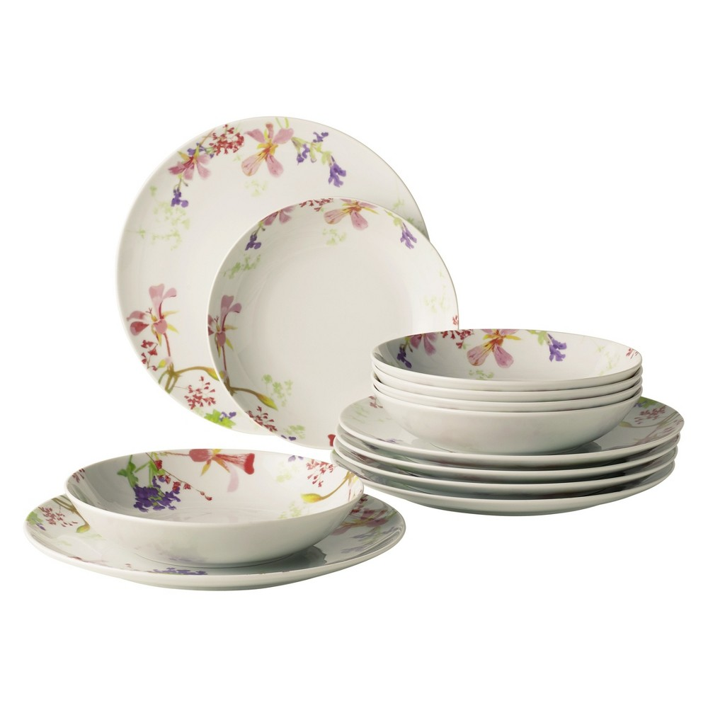 Image of 12pc Flower Meadow Porcelain Dinnerware Set - vivo by Villeroy & Boch, White