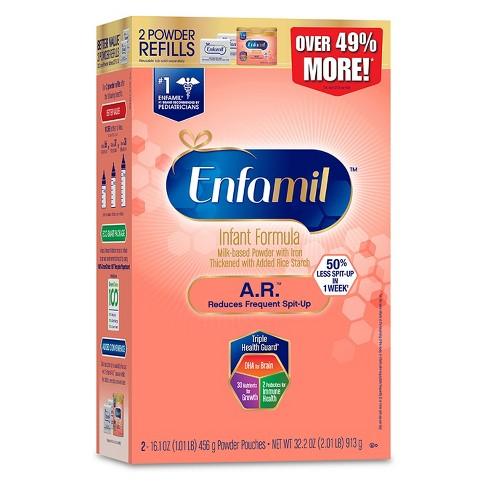 Enfamil 4pk A.R. Infant Formula Powder Refill Box - 32.2oz - image 1 of 1