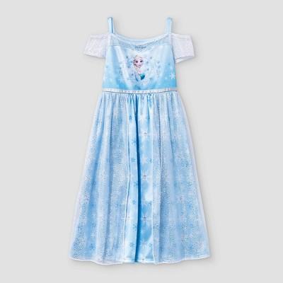 Toddler Girls' Fantasy Elsa NightGown - Blue