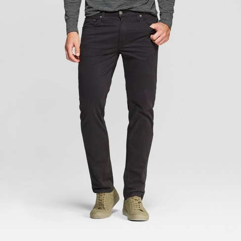 Men's Straight Fit Chino Pants - Goodfellow & Co™ Black - image 1 of 3