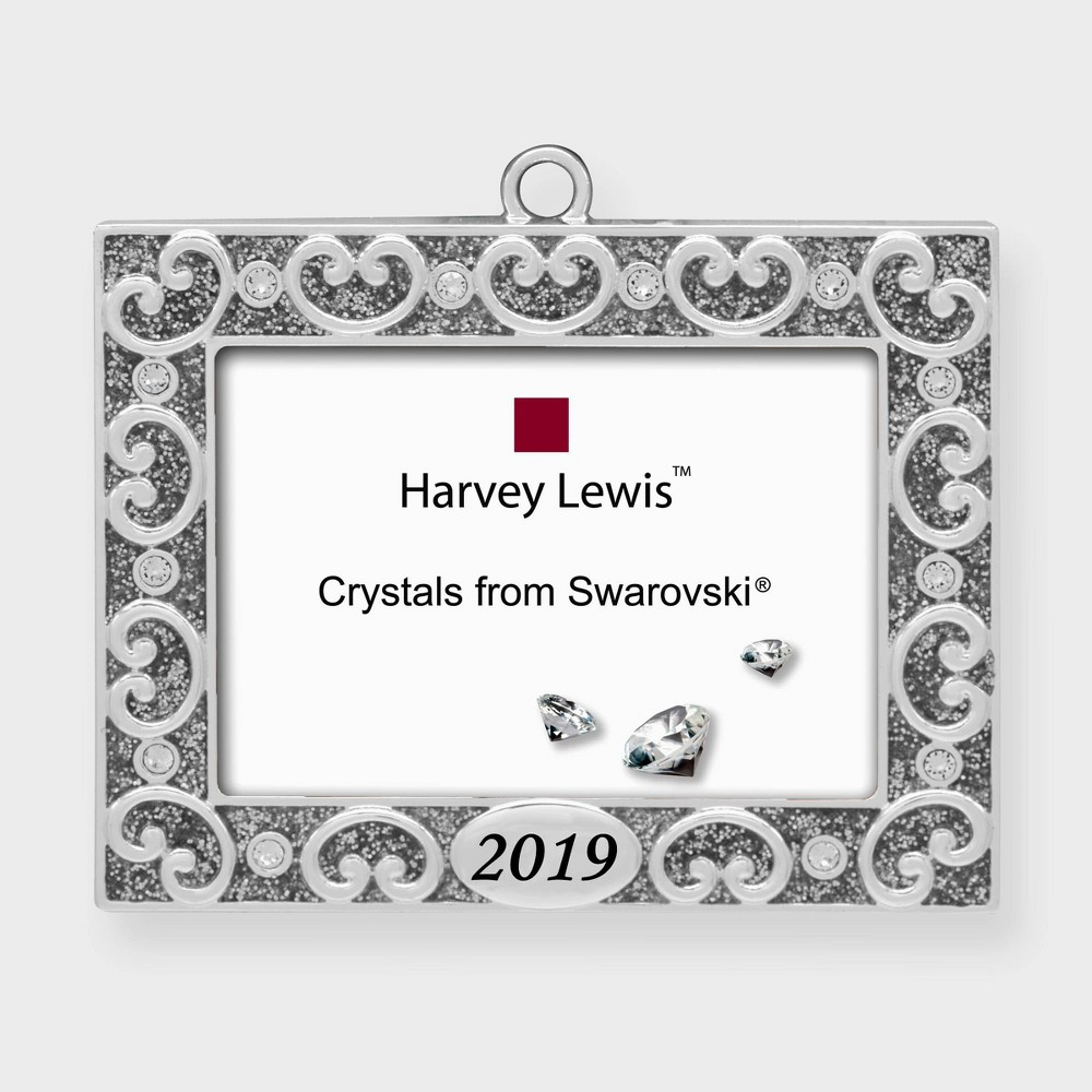 Image of Crystals from Swarovski - Harvey Lewis - 2019 Frame Christmas Ornament, Silver