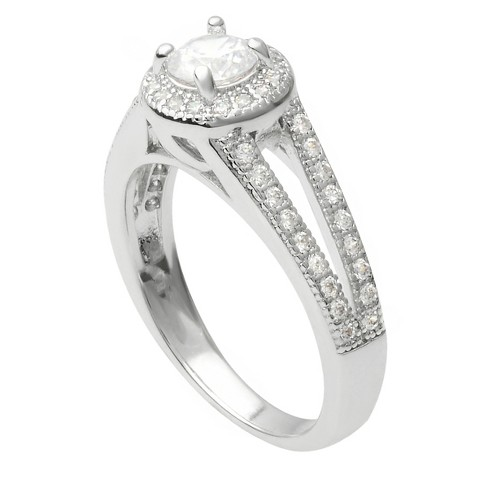 1 2/5 CT. T.W. Round-cut Cubic Zirconia Bridal Basket Set Ring in Sterling Silver - Silver - image 1 of 2