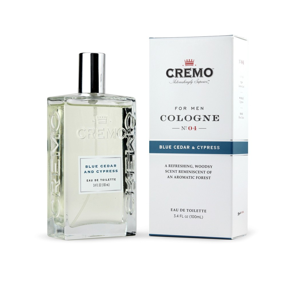 Image of Cremo Blue Cedar and Cypress Men's Spray Cologne - 3.4 fl oz