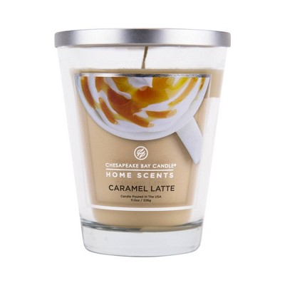 11.5oz Lidded Glass Jar Candle Caramel Latte - Home Scents by Chesapeake Bay Candle