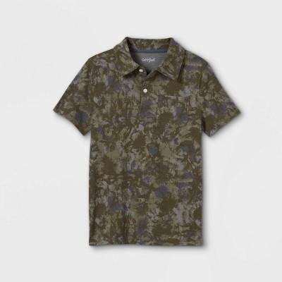Boys' Camo Print Short Sleeve Polo Shirt - Cat & Jack™ Green/Navy