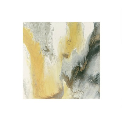 """36"""" x 36"""" Blissful Gel Coat Unframed Wall Canvas Yellow"""
