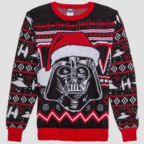 Men's Star Wars Darth Vader Santa Graphic Sweatshirt - Black Arrow - image 1 of 2