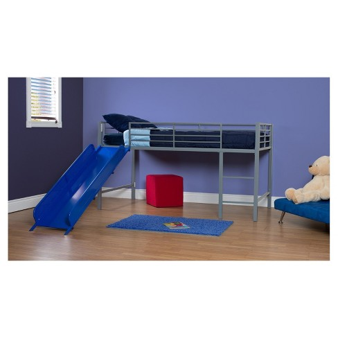 Melia Junior Metal Loft Bed With Slide Dorel Home Target