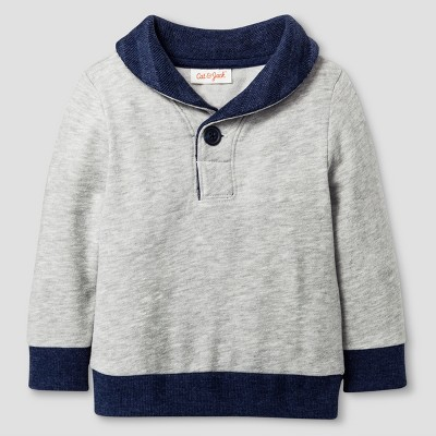 Baby Boys' Pullover Sweater Cat & Jack™ - Heather Gray 18 M