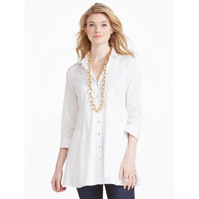 NIC+ZOE Women's Santa Monica Shirt Jacket Paper White