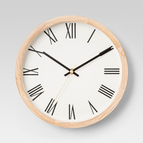 Decorative Wood Wall Clock - Project 62™ - image 1 of 1
