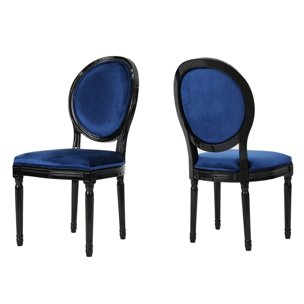 Camille New Velvet Dining Chair - Ice Blue (Set of 2) - Christopher Knight Home