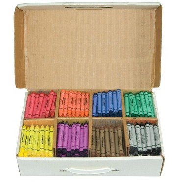 Prang Large Non-Toxic Crayon Master pk, 4 X 7/16 in, Assorted Color, set of 400