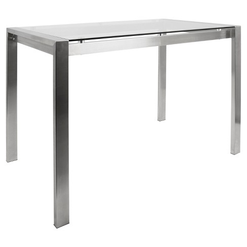 Counterheight Table Stainless Steel Target - Counter height table inches
