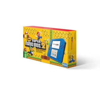 Nintendo 2DS - Electric Blue with New Super Mario Bros. 2 Game Pre-Installed