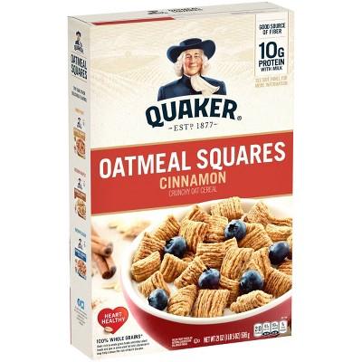 Quaker Oat Squares Big Box Cinnamon - 21oz