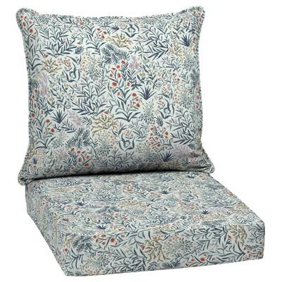 Pistachio Botanical Outdoor Cushion Set Green - Arden Selections