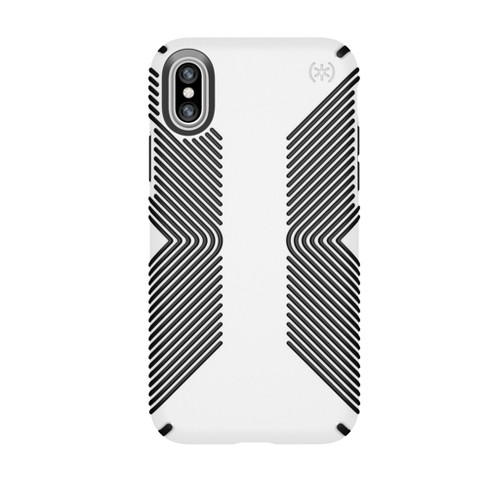online store baa1b 5fb59 Speck iPhone X Case Presidio Grip - White/Black