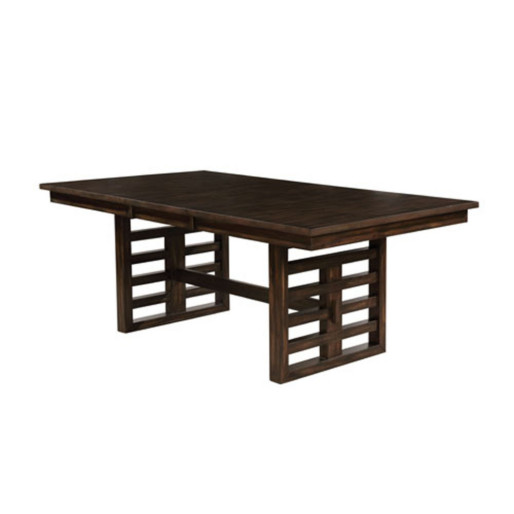 Set of 2 Moreno Rectangular Wood Dining Table Walnut (Brown) - ioHOMES