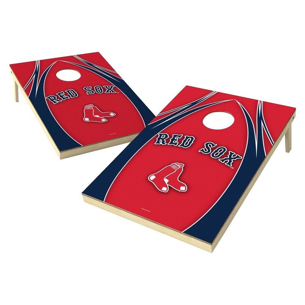 Boston Red Sox Wild Sports V Logo Shield Cornhole Bag Toss Set - 2x3 ft.
