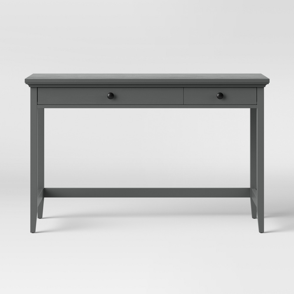 Carson Wood Writing Desk With Drawers Gray Threshold 8482