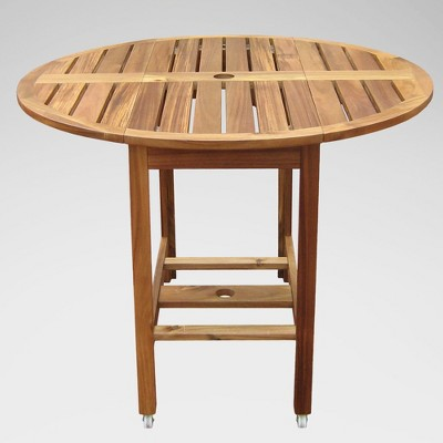 Acacia Folding Round Dining Table - Merry Products
