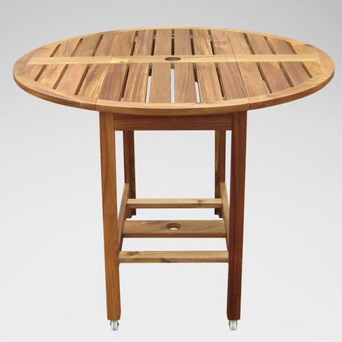 Acacia Folding Round Dining Table Merry Products