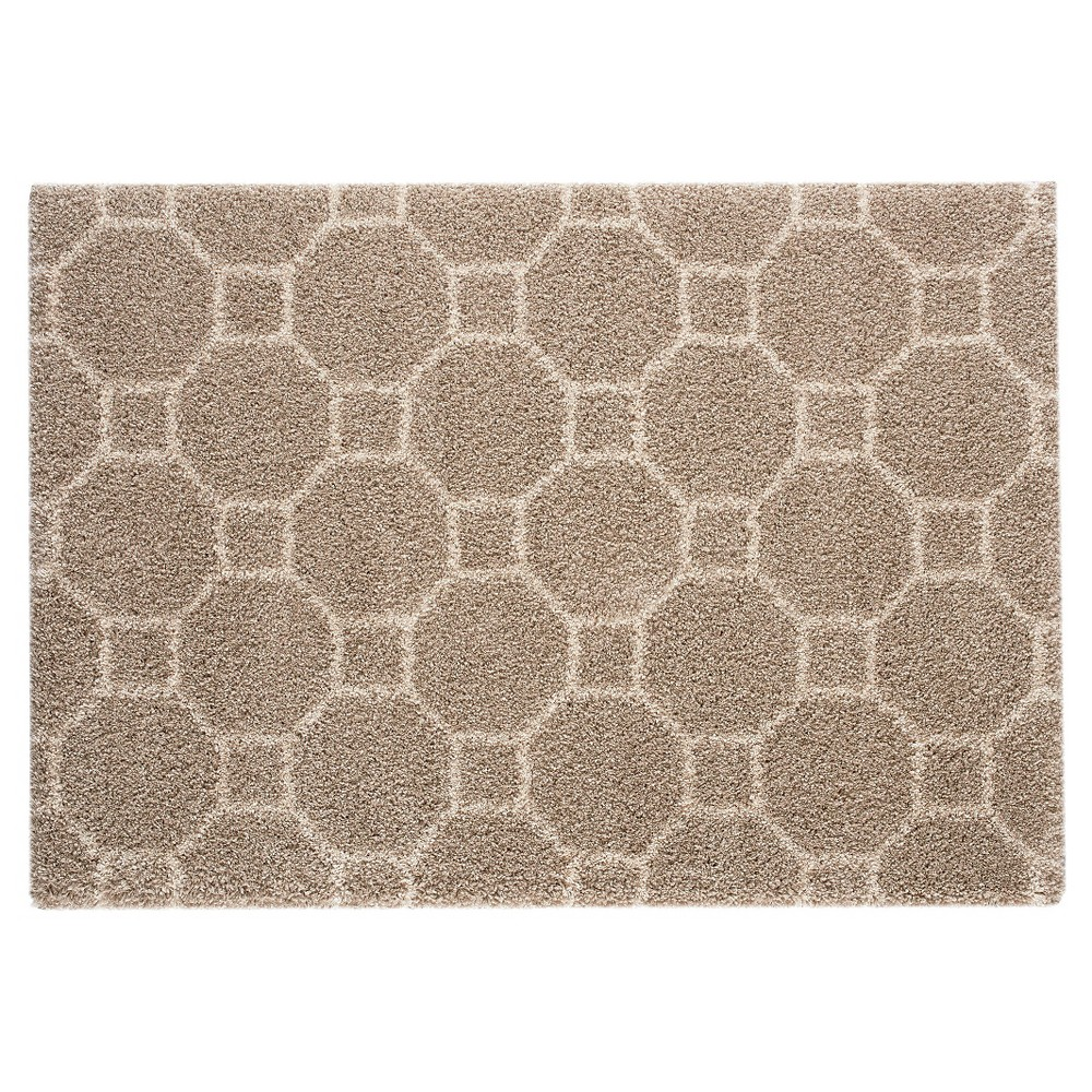 8'X10' Geometric Area Rug Taupe Brown - Balta Rugs, Brown Off-White
