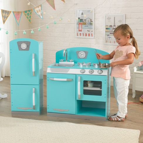 Blue Retro Kitchen And Refrigerator Target