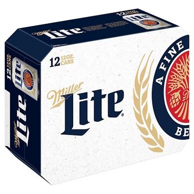 Miller Lite® Beer - 12pk / 12oz Cans