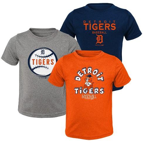 MLB Detroit Tigers Toddler Boys' Gray T-Shirt 3pk - image 1 of 4
