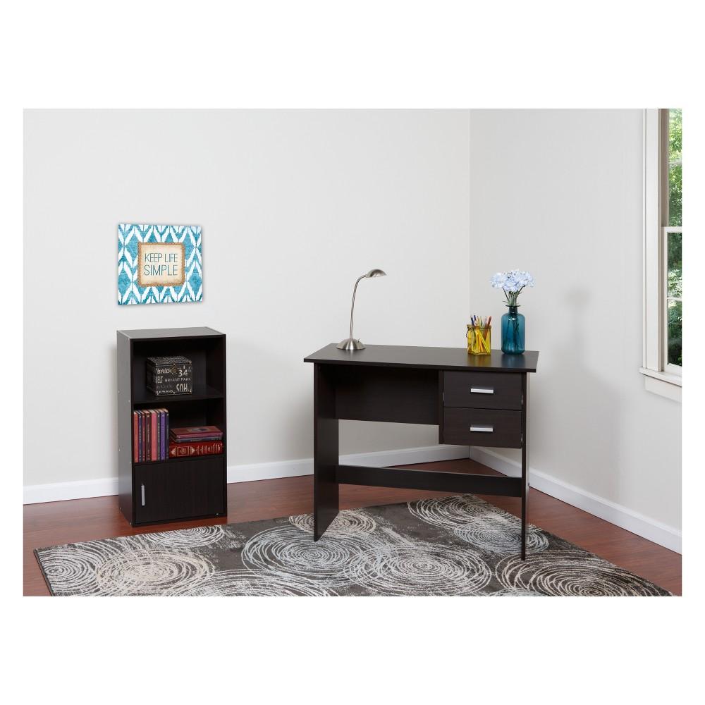 Image of Adina 2 Drawer Writing Desk Espresso - OneSpace