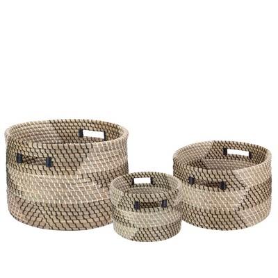 "Northlight Set of 3 Traditional Nesting Wicker Baskets 14.5"""