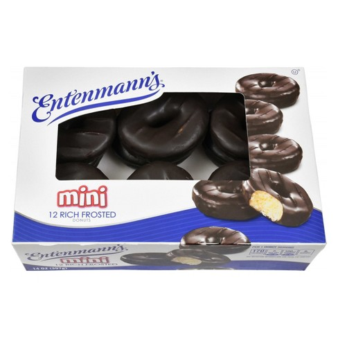 Entenmann's Frosted Mini Chocolate Donuts - 12-ct - image 1 of 4