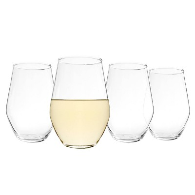 19oz 4pk Glass Stemless Wine Glasses - Cathy's Concepts