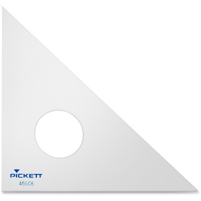 """Chartpak Triangle 45-90 Degrees 6"""" Clear 99920"""