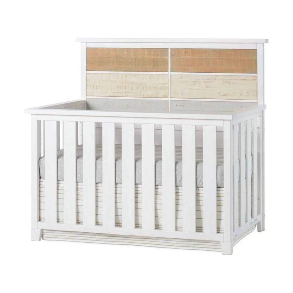 Image of Forever Eclectic Rockport 4-in-1 Convertible Crib - White