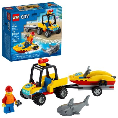 LEGO City Beach Rescue ATV Building Kit 60286